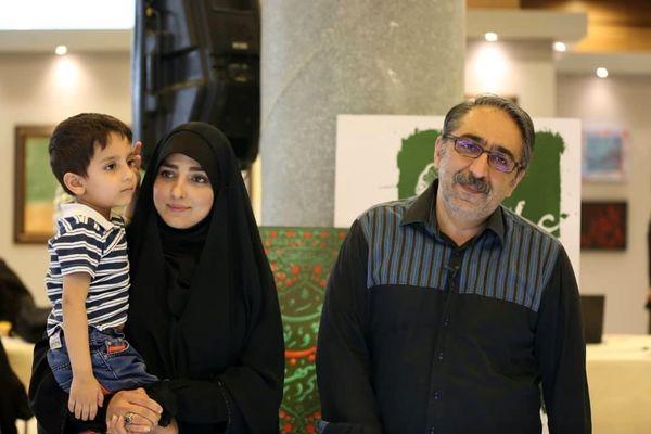 عکس زوج مجری و فرزندشان+عکس