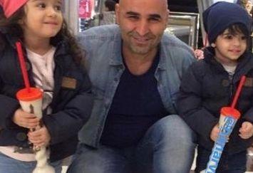 دوقلوهای زیبای مجید صالحی کنار دایی مشهدیشون+عکس