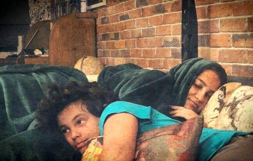 بچه های مهراب قاسمخانی در حال استراحت + عکس