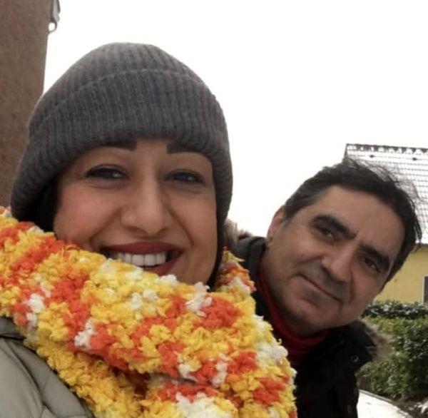 فاطمه هاشمی و همسرش + عکس