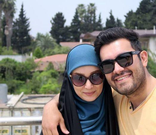 همسر همیشه همراه خانم مجری + عکس