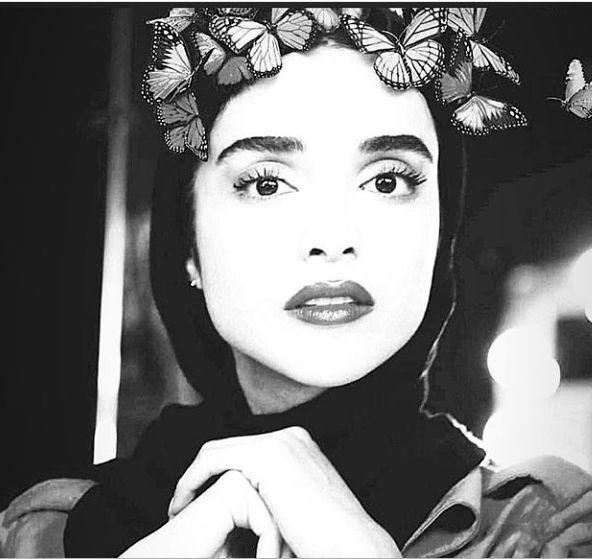 سر پر پروانه الهه حصاری + عکس