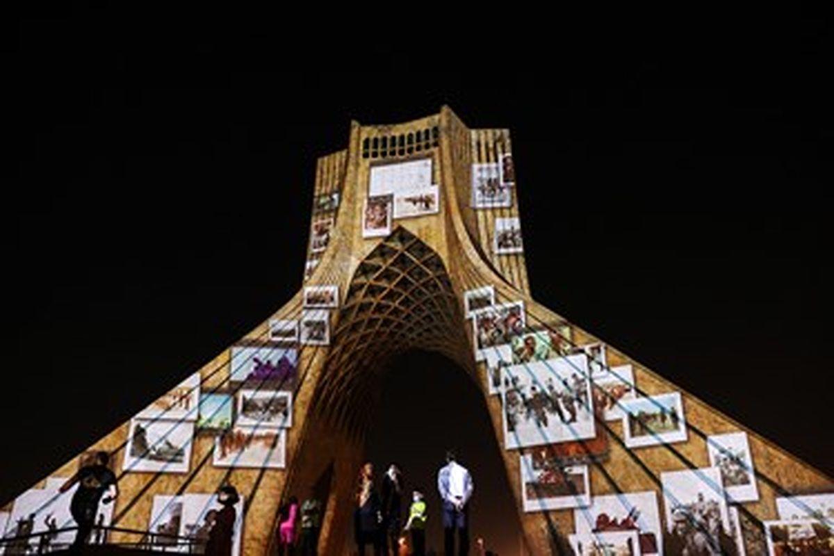 ویدئو مپینگ جدید برج آزادی + تصاویر