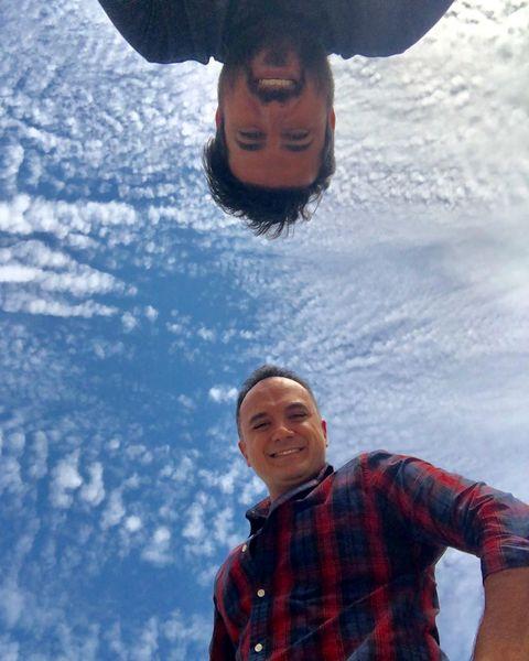احسان کرمی و محسن کیایی در آسمان ها+عکس