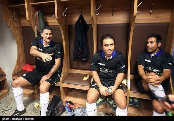 اسطوره های خوش تیپ فوتبال ایران و پرسپولیس در افتتاحیه جام ملت های آسیا + عکس