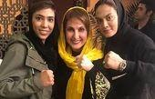 خواهران منصوریان در سالن زیبایی فاطمه گودرزی/عکس