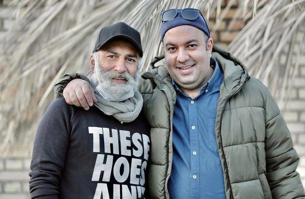 دوستی صمیمانه علی اوجی با بازیگر مشهور + عکس