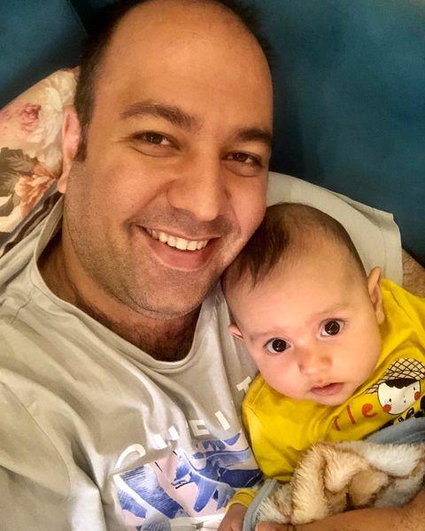 علی اوجی با پسر کوچولوی تپلی + عکس
