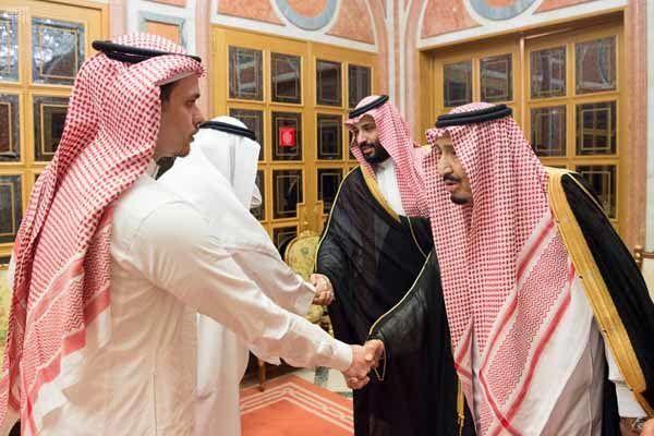 دیدار پادشاه و ولیعهد عربستان با خانواده خاشقجی!