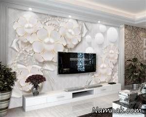 چطور در خانه اجاره ای کاغذ دیواری استفاده کنیم؟