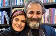 مجری فرهیخته تلویزیون در کنار همسرش