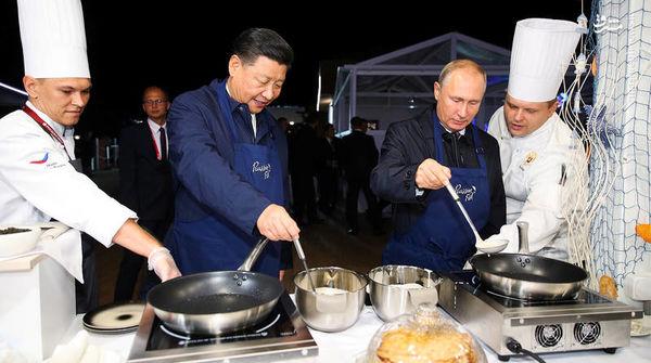 آشپزی پوتین و رئیس جمهور چین