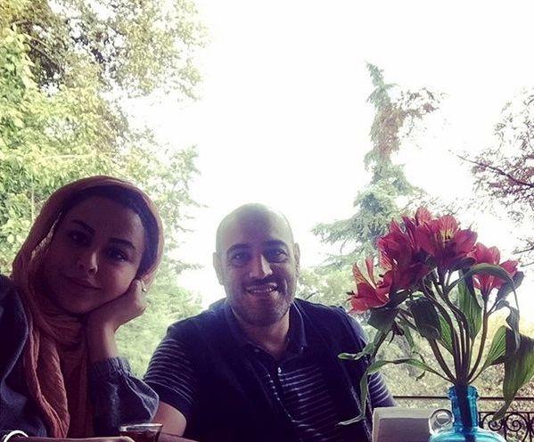 روز گل و بلبل پسر حشمت فردوس با همسرش+عکس
