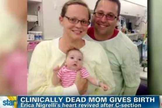 زن مرده پس از زایمان زنده شد + عکس