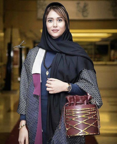 مدل خاص کیف پریناز ایزدیار در یک مراسم + عکس