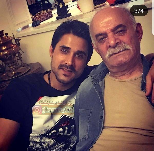 سیروس گرجستانی و پسرش در منزل + عکس