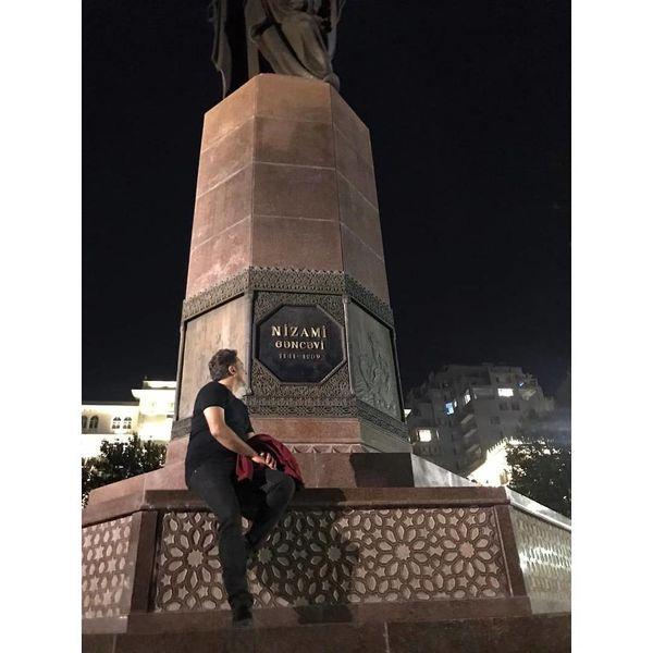 سفر تاریخی مجید اخشابی به باکو+عکس