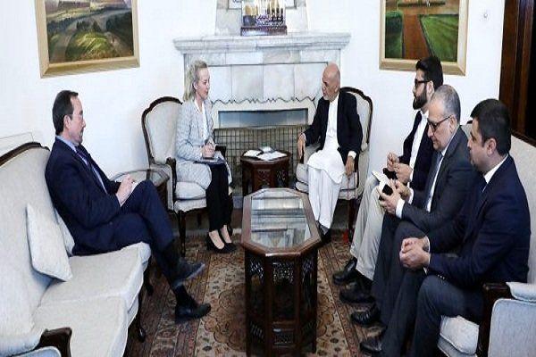 اشرف غنی با معاون وزیر خارجۀ آمریکا دیدار کرد