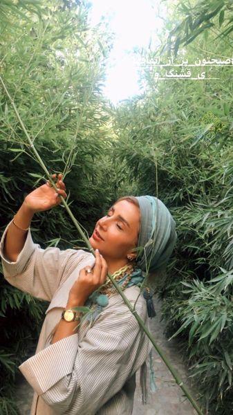 حال خوب شبنم قلی خانی در دل جنگل + عکس