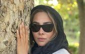 تکیه گاه محکم خانم بازیگر + عکس