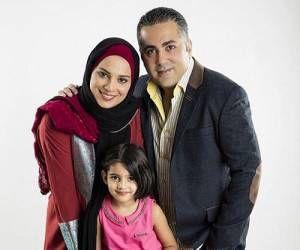 بازیگر شهرک جیم در کنار خانواده اش+عکس