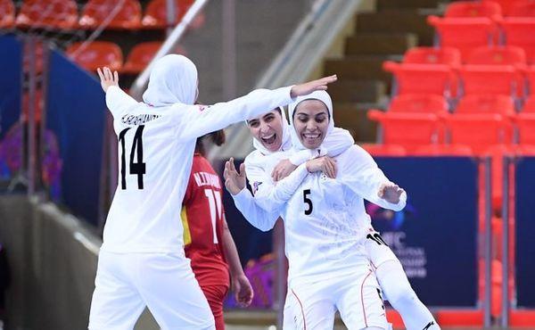 فوتسال بانوان ایران برای دومین بار بر بام آسیا ایستاد