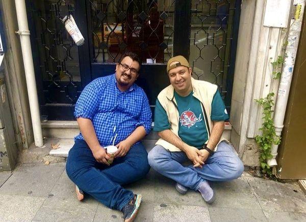 علی اوجی و دوستش + عکس