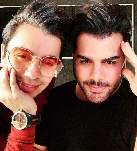 محسن ابراهیم زاده در کنار رفیق همیشگی اش + عکس