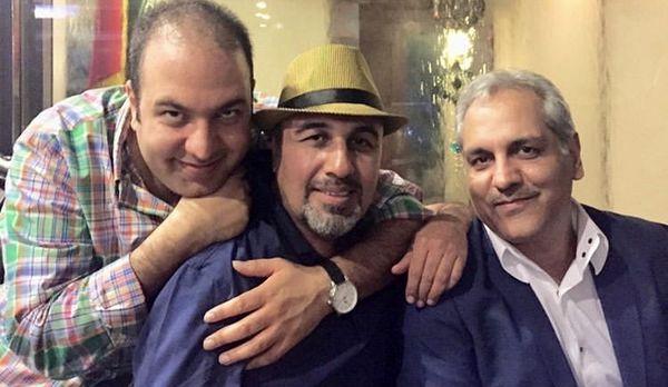 علی اوجیدر کنار اسطوره های طنز سینمای ایران + عکس