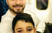 عکس جدیدی که بابک جهانبخش به همراه پسرش منتشر کرد.