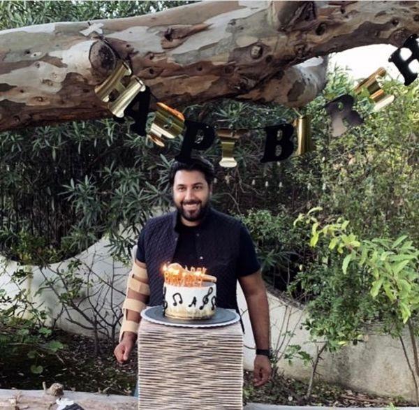 تولد احسان خواجه امیری در باغ + عکس