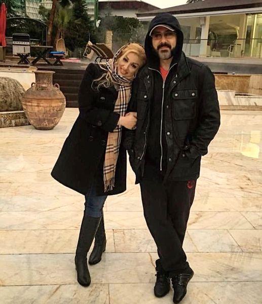 کوروش تهامی و همسرش در آغوش هم + عکس