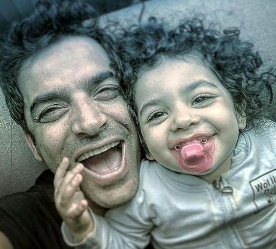 خنده های از ته دل پدر دختری آقای کارگردان + عکس