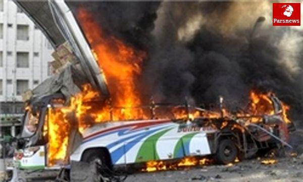 انفجار بمب ساعتی در اتوبوس پاکستانی