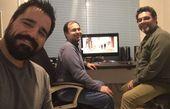 کارگردان هم گناه و دوستانش در حال کار + عکس