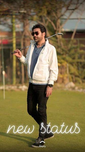 گلف بازی کردن فرزاد حسنی + عکس