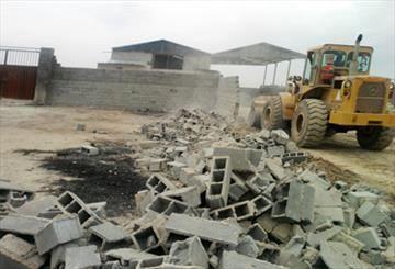 تخریب ساخت و سازها در اراضی پارک ملی سرخه حصار