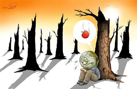 کاریکاتور گرما ایران را در برمی گیرد!