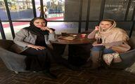 سپیده خداوردی و دوستش در رستوران + عکس