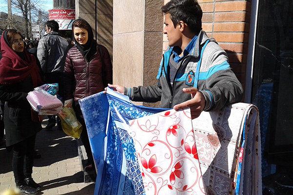 جلوگیری از فعالیت بساط گستران در معابر عمومی غرب پایتخت