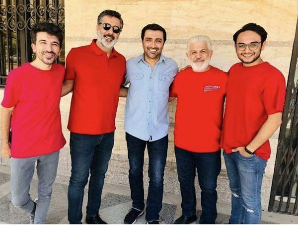 امین زندگانی و دوستان پرسپولیسی اش + عکی