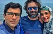 سفر تابستانی امین زندگانی با زن و برادر زنش+عکس