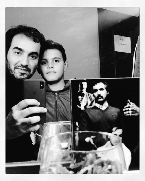 سجاد افشاریان و رفیق شفیقش در پشت صحنه+عکس