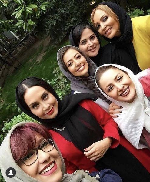 سلفی زنونه جمعی از خانمهای بازیگر + عکس