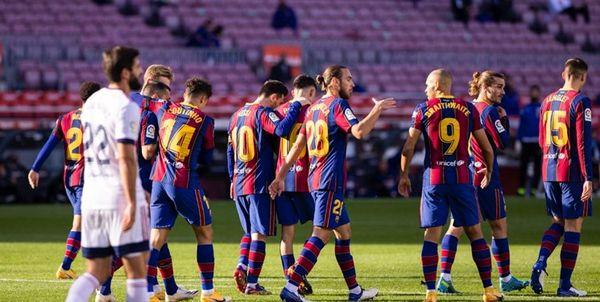 برد پرگل بارسلونا در هفته یازدهم لالیگا