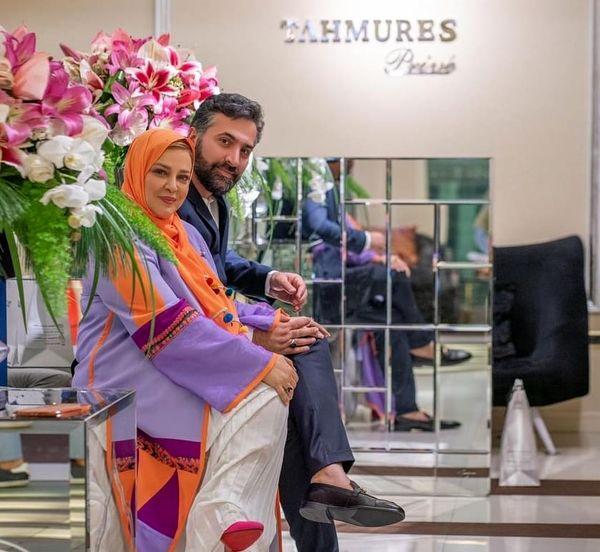 تیپ شاد تابستانی بهاره رهنما و همسرش+عکس