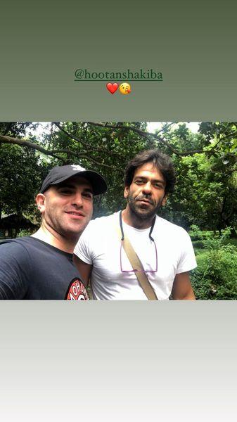سلفی هوتن شکیبا و بانی پال در دل جنگل /عکس