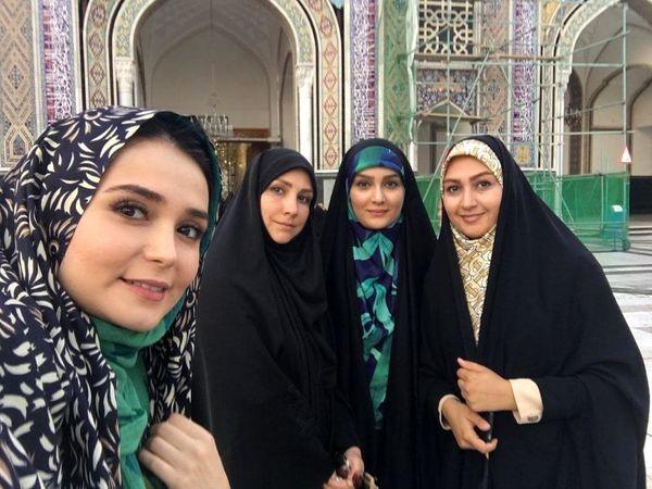 سفر مژده خنجری به مشهد+عکس